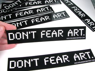 Don't Fear Art stickers