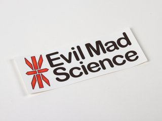 Evil Mad Science Logo Stickers
