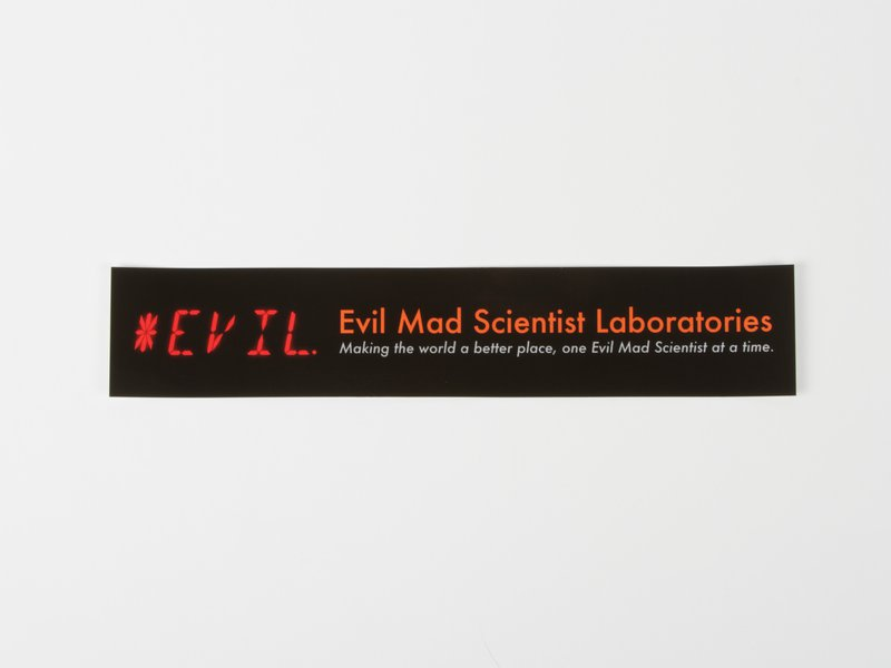 Evil Mad Scientist Laboratories stickers.