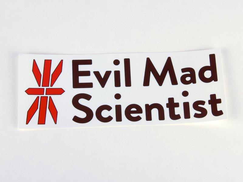 Evil Mad Scientist logo stickers.