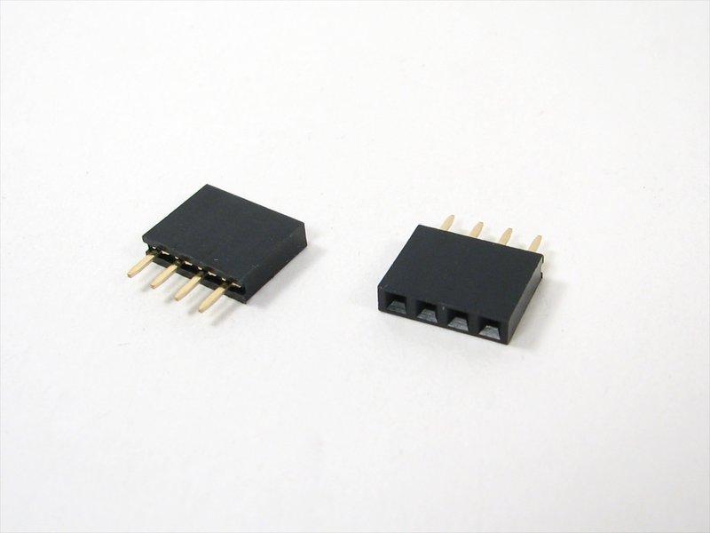 4-pin Header Sockets (two shown)