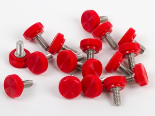 Thumbscrew, 8-32 x 3/8, Red