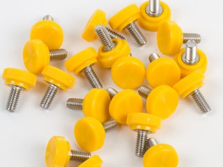 Thumbscrew, 8-32 x 3/8, Yellow