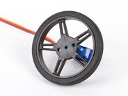 Shown with continuous-rotation micro servo motor (sold separately)