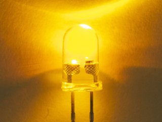 Yellow 5 mm Clear Candle Flicker LED