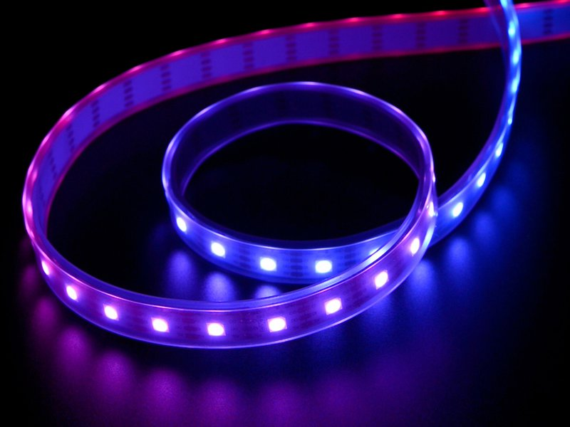 DotStar LED Strip (showing purples and blues)