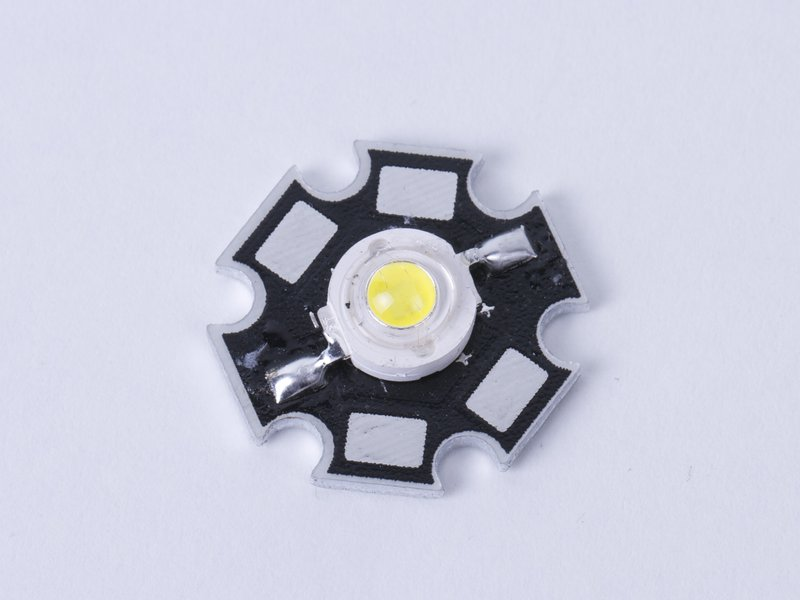 1 W White LED, on star-breakout board