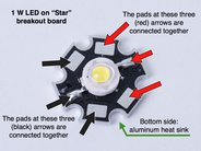 Pinout of the aluminum star board