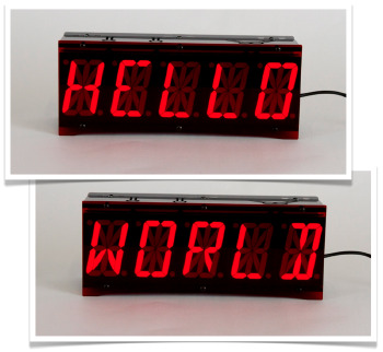 Hello World on Alpha Clock Five