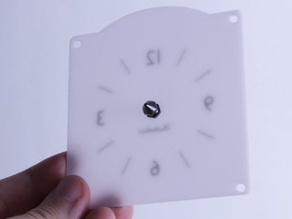 Rear projection clock face