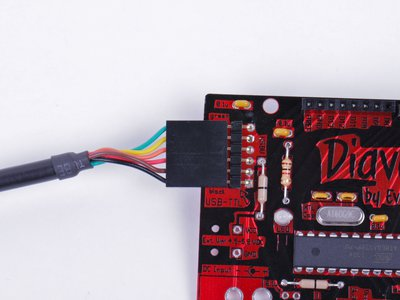 Diavolino: Hooking up to USB-TTL cable