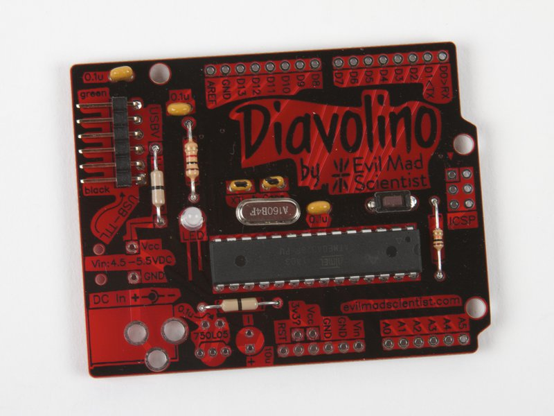 Diavolino, shown assembled with included parts
