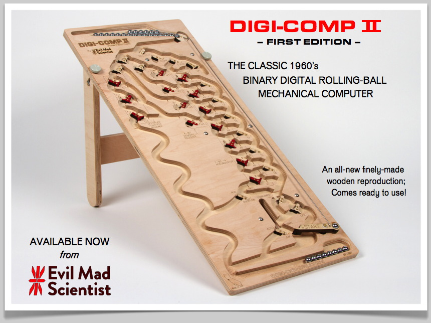 Digi-Comp II, Available now from  Evil Mad Scientist