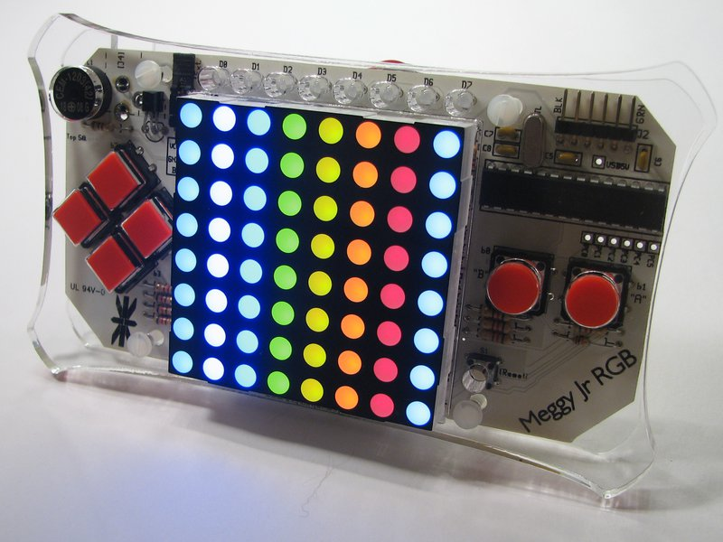 Meggy Jr RGB: includes 8x8 RGB LED matrix!