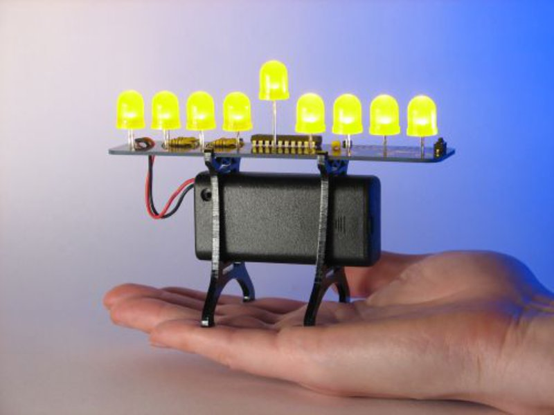 Deluxe LED Menorah Kit, with 10 mm yellow LEDs