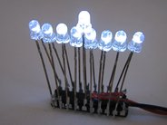 Mini Menorah Kit, 3 mm white LEDs