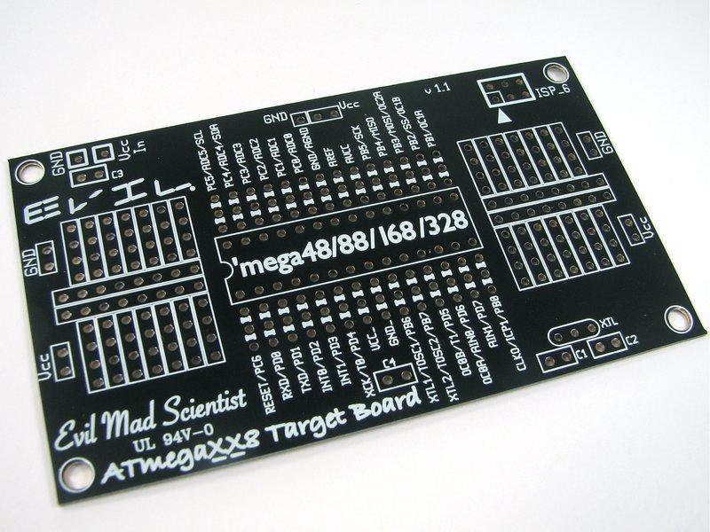ATmegaXX8 target board, top