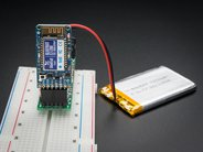Bluefruit EZ-Link shown on breadboard with LiPo battery (not included)