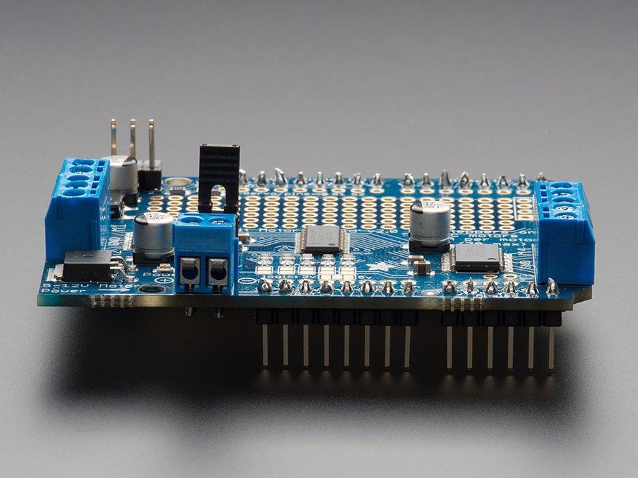 Adafruit motor shield for arduino kit v