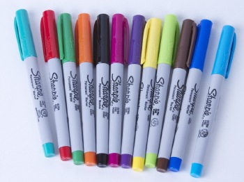 Colorful pens that you can use with EggBot