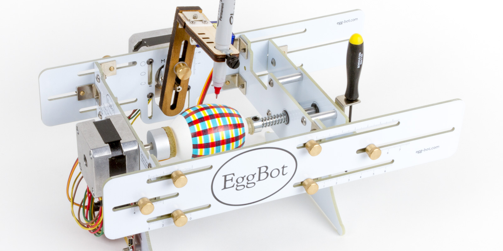 the original eggbot simple fun u0026 open source cnc art robot