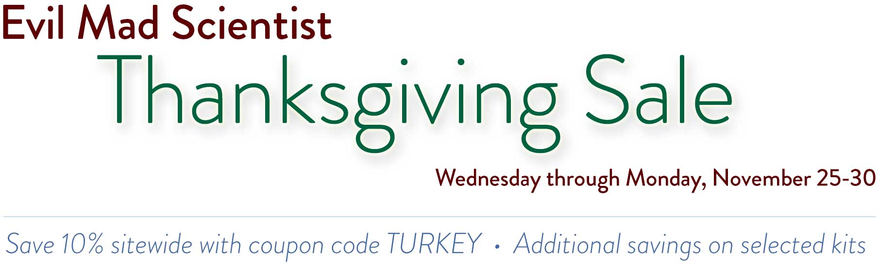 Thanksgiving sale graphic