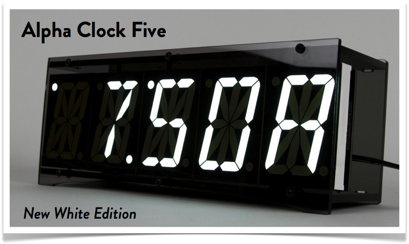 Alpha Clock Five, White Edition